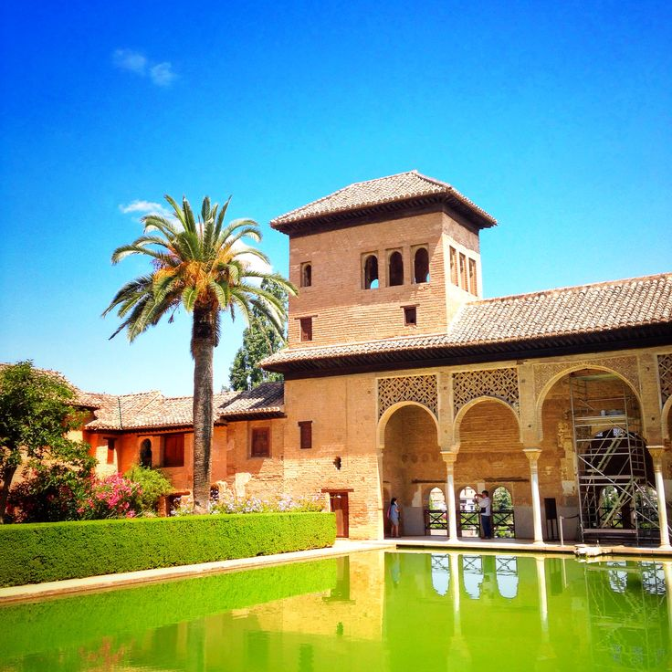 Palacio Nazariés - The Nasrid Palaces, Alhambra, Spain  One of the few places where you see the beauty of Alhambra intact with the intricate calligraphy, engravings  gardens