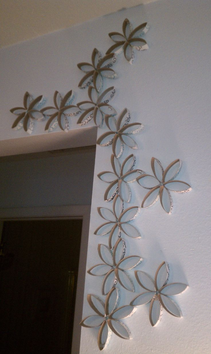 Wall Designs With Craft Paper : Toilet paper roll wall art