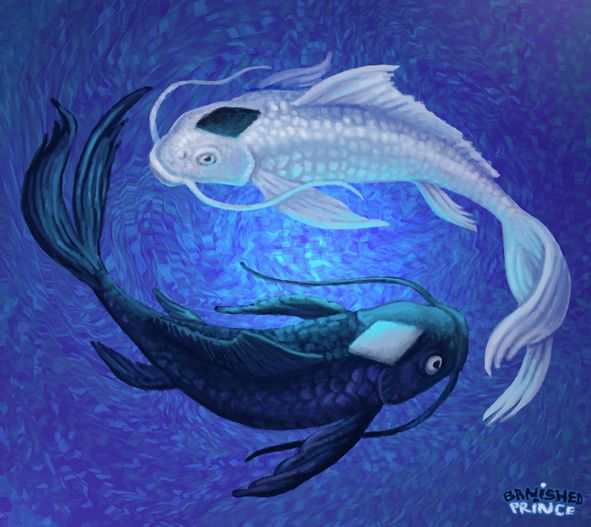 Yin and yang artwork avatar the last airbender yin and for Koi fish pisces
