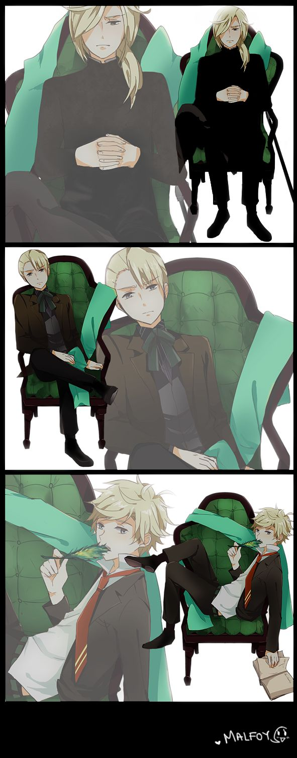 Malfoy - Lucius, Draco and Scorpius HP:ThyGreatChair by Scolse