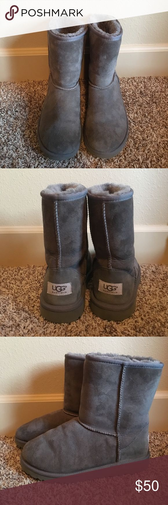 Short Grey Uggs EUR 35 Short grey uggs these are kids uggs size 5 but fit my 6.5 women's size shoe great! Perfect condition! UGG Shoes Winter & Rain Boots