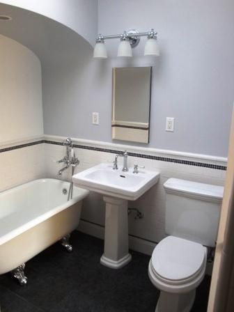 Small Bathroom Toilet And Sink Switched Plus Shower