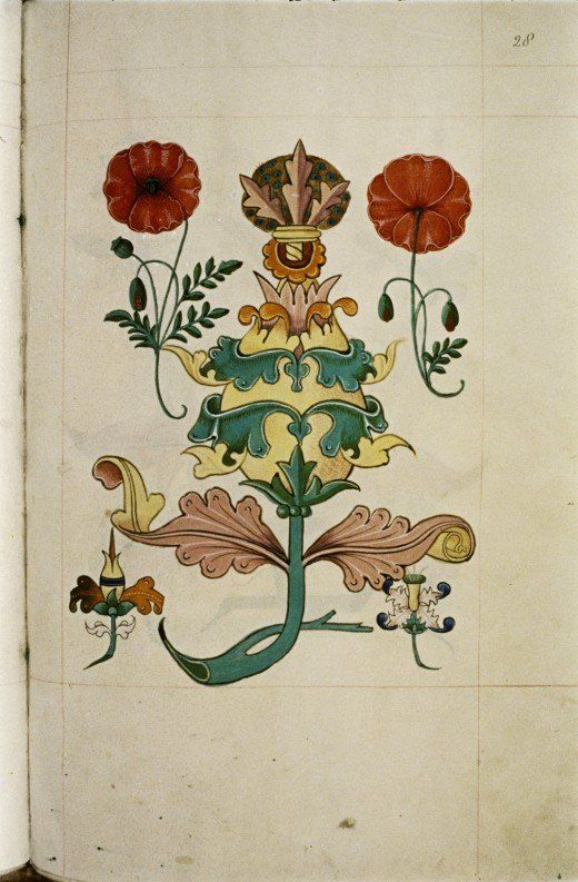 From a Tudor pattern book (1520) courtesy of the Bodleian Library, Oxford.