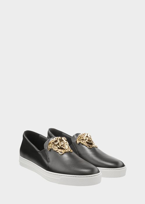 Versace Palazzo Slip-on Sneakers for Men | Official Website. Slide On Palazzo Sneaker by Versace for Men's. These slide-on leather Palazzo sneakers are the epitome of effortless style.