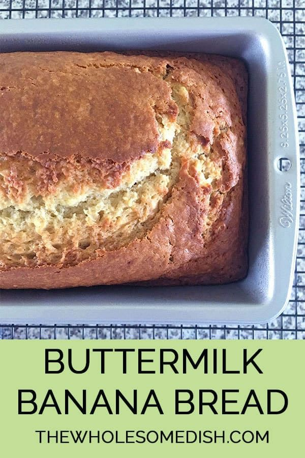 The Best Buttermilk Banana Bread The Wholesome Dish Recipe Buttermilk Banana Bread Buttermilk Recipes Best Banana Bread