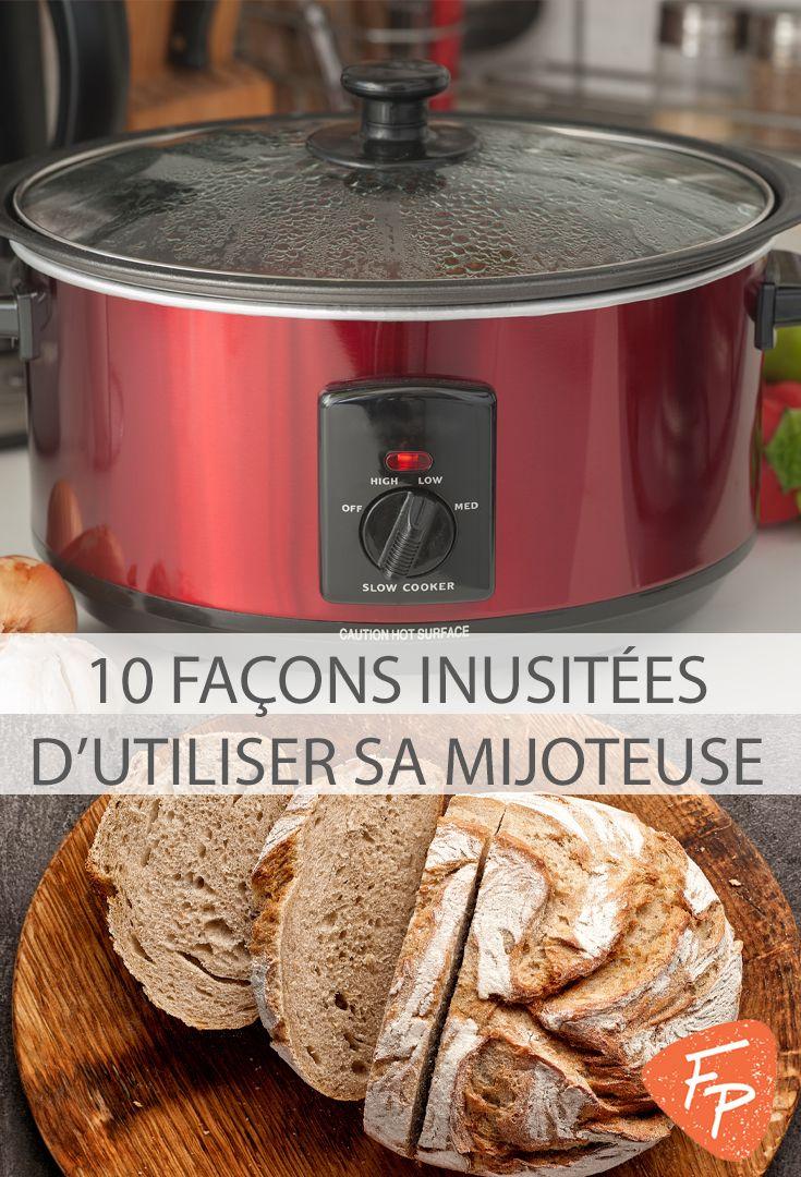 Réchaud, surface de cuisson supplémentaire quand on reçoit, machine à pain, aide pour les déjeuners... la mijoteuse peut être utilisée de tellement de façons!