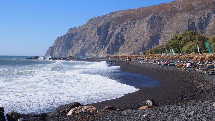 Kamari Beach Santorini, Greece