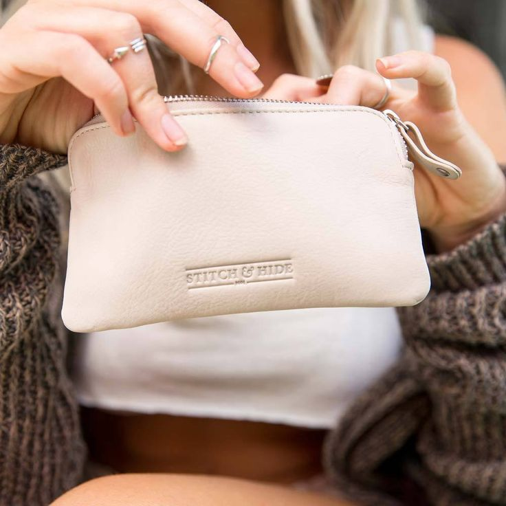 Stitch & Hide | Lucy Leather Pouch in Ivory