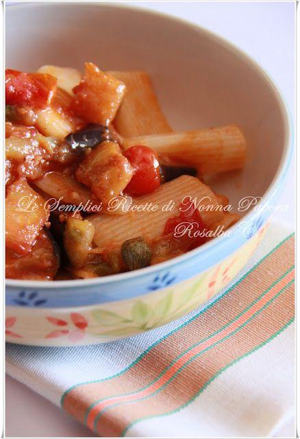 Le semplici ricette di Nonna Papera: RIGATONI ALLA SICILIANA