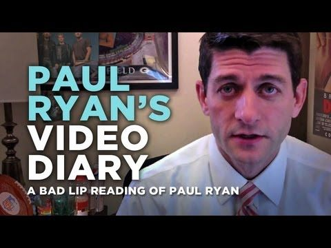 """""""Paul Ryan's Video Diary"""" — A Bad Lip Reading of Paul Ryan - """"The 70's are GONE Baby, and it's hard for your friends that like gummi bears!"""" LMAOLOLOLOL"""