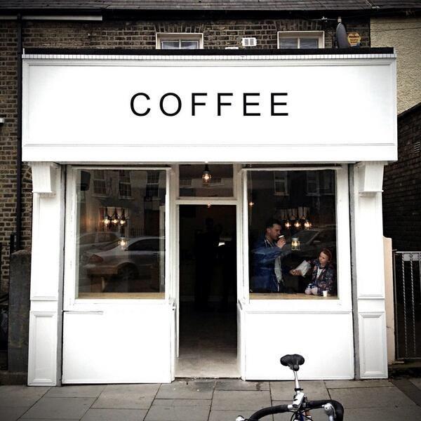 Open Small Modern Coffee Shop Interior Design Pictures To Pin On  Love Supreme Coffee shopfront, Dublin, Ireland. White facade, black ...