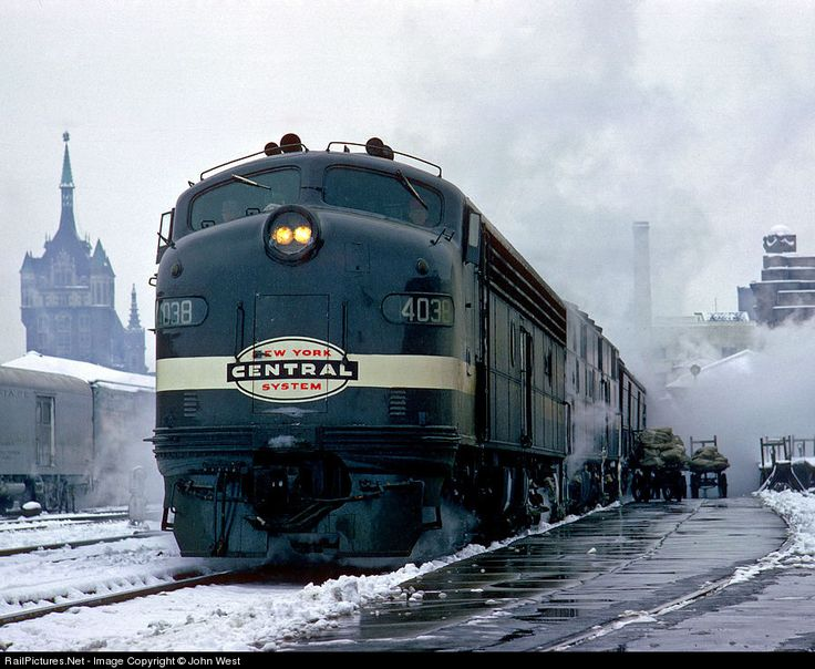 RailPictures.Net Photo: NYC 4038 New York Central EMD E8(A) at Albany, New York by John West