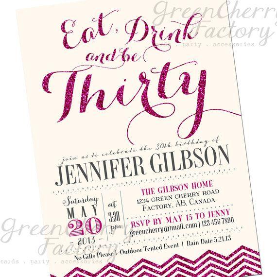 Sparkle Milestone Adult Birthday Invitation  by GreenCherryFactory, $18.00