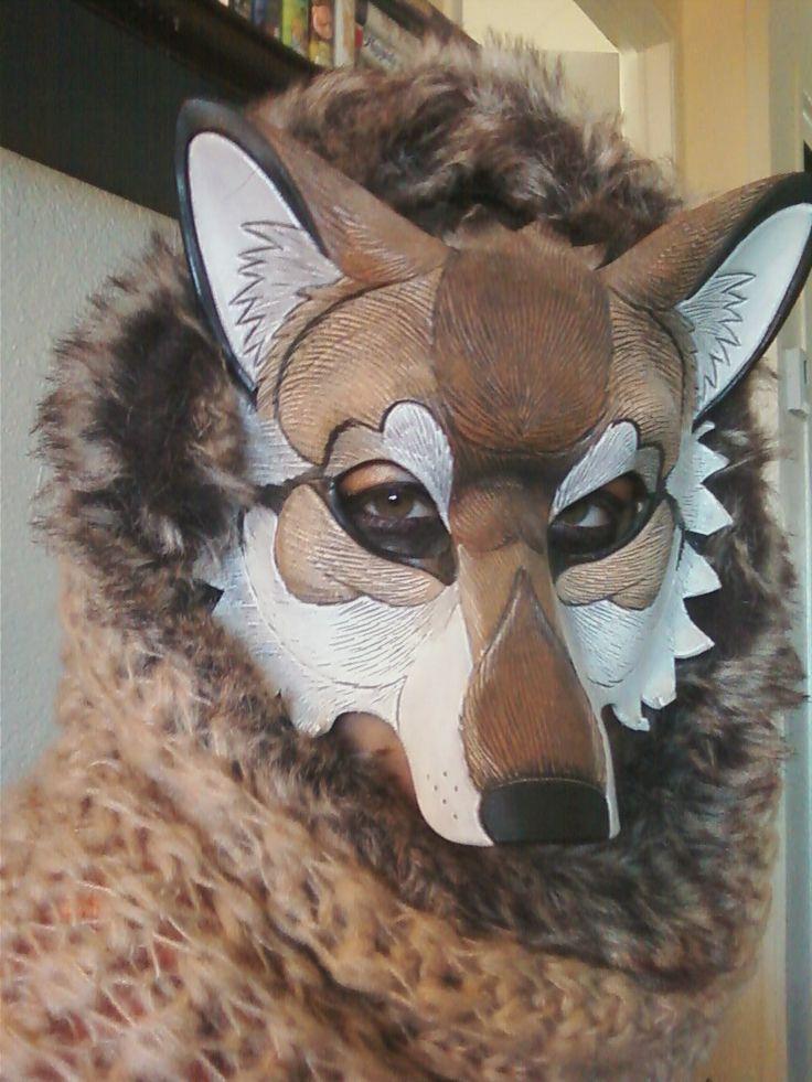 Red Wolf mask being worn by *merimask on deviantART