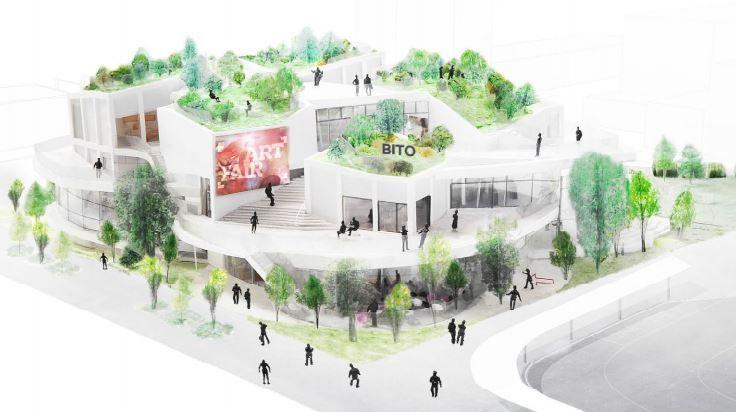 群馬県のおおたBITO太田市美術館・図書館の基本・実施設計資料が太田市のHPで公開されています。設計は建築家の平田晃久氏。都市と自然が入り組