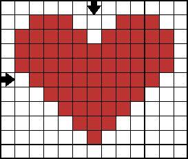 Free Cross Stitch Patterns - Holiday Mini Motif Cross Stitch Collection: Free Cross Stitch Pattern - Mini Heart A