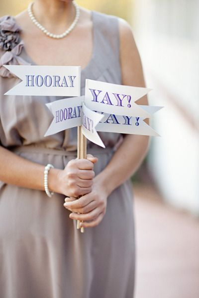 DIY Wedding Banners: Hooray! Yay!
