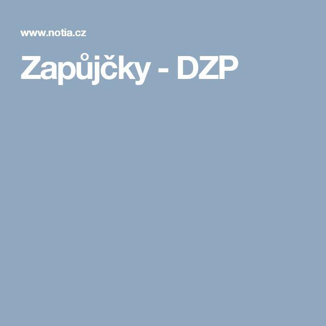Zapůjčky - DZP