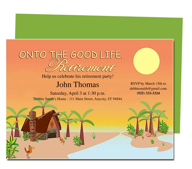 Retirement templates tropicana on to the good life for Retirement announcement flyer template