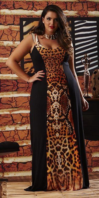 Vestido Onza - VK Moda Tallas Grandes