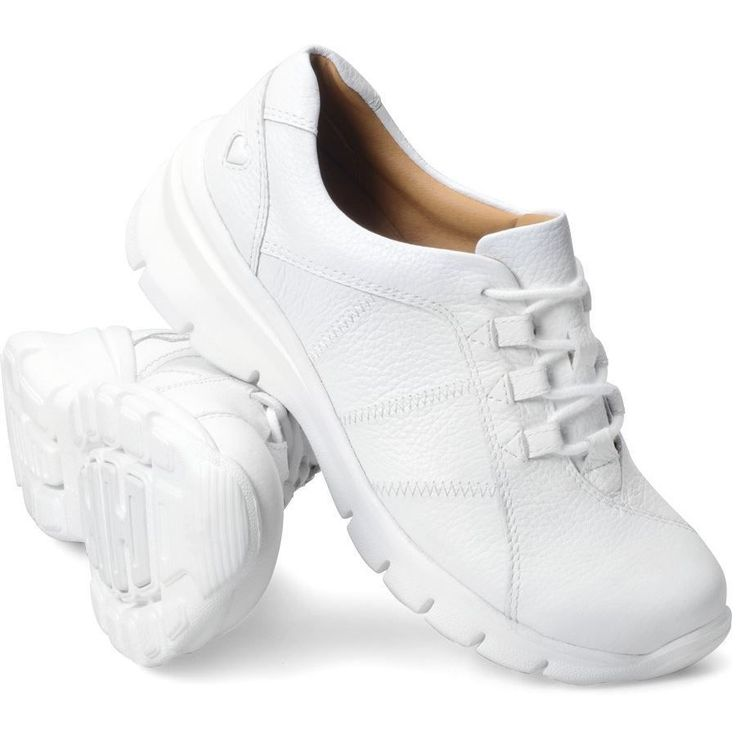 White Leather Shoes Womens Nursing