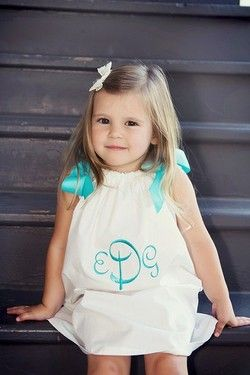 monogram: Dresses Tops, Tops Patterns, Future Daughters, Pillowcases Dresses, Future Kids, Baby Girls, Little Girls Dresses, Monograms Everything, Dresses Patterns