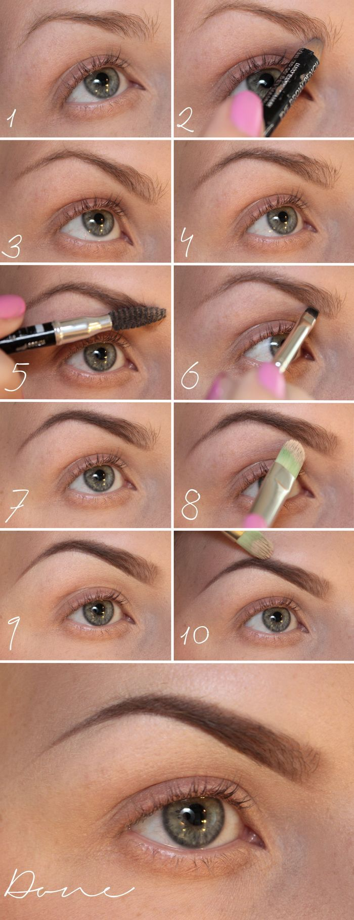 Brow Tutorial - Not in English, but the pictures are very helpful! >> by Psycho Sandra