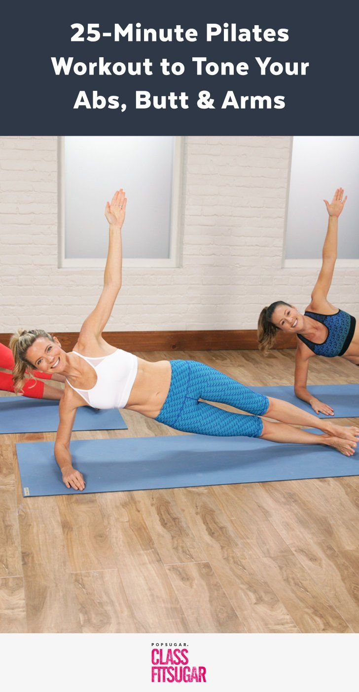 Get ready for a focused Pilates workout that will tighten your entire body, while strengthening your core. This 25-minute workout is intense but won't leave