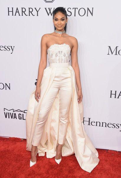 Chanel Iman in Zuhair Murad - 2016 amfAR New York Gala