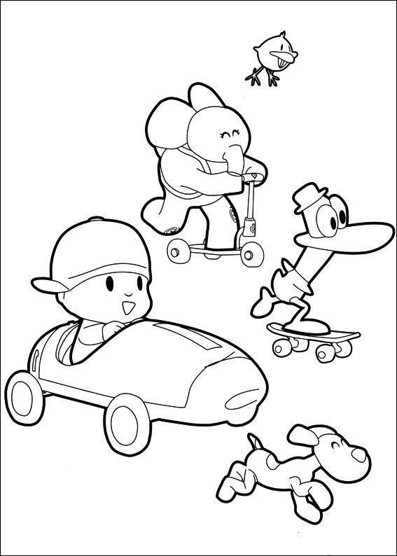 43 best Pocoyo images on Pinterest Drawings Coloring