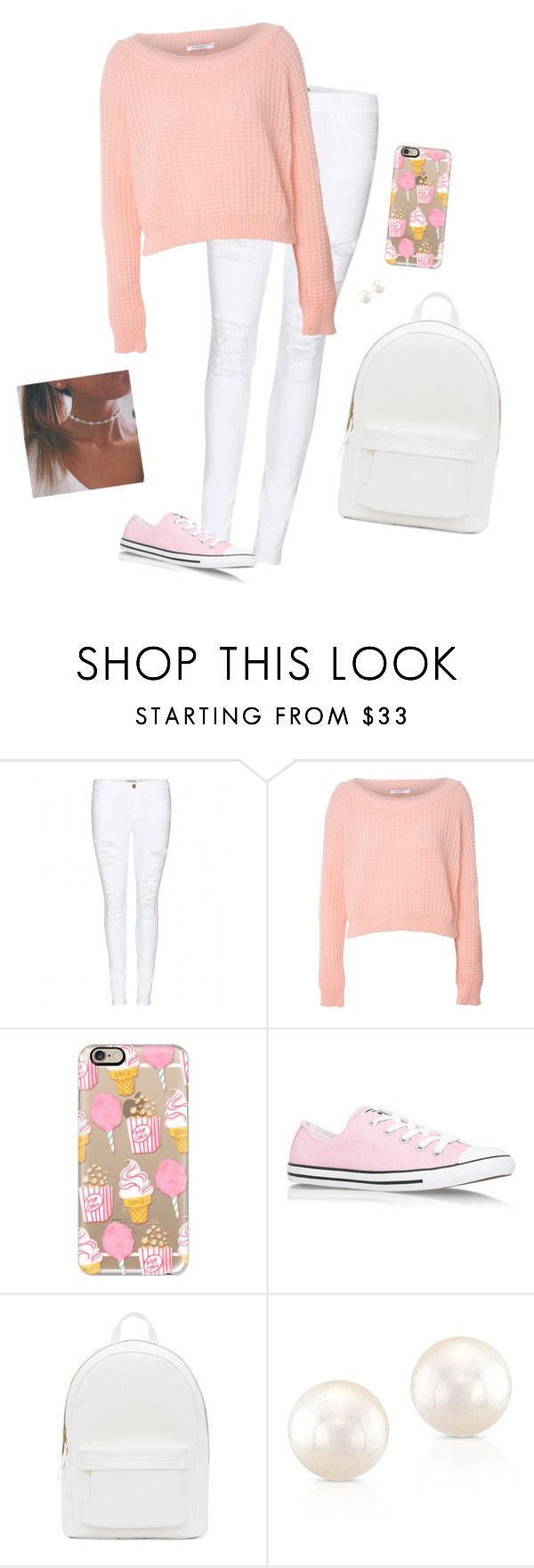 """""""#BTSWithHana"""" by hanakdudley ❤ liked on Polyvore featuring Frame Denim, Glamorous, Casetify, Converse, PB 0110 and BTSWithHana"""