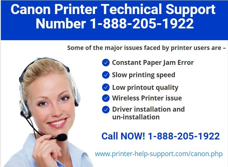 Canon Printer Technical Support for printer repair and Services. Get Help & Support For Printers & Scanners Online by Experts Call Tollfree 1-888-205-1922. http://www.printer-help-support.com/canon.php