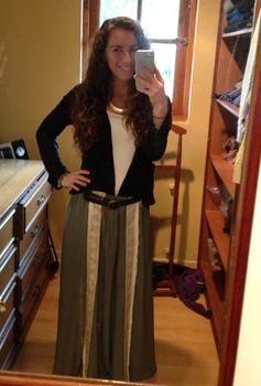 Statement long skirt