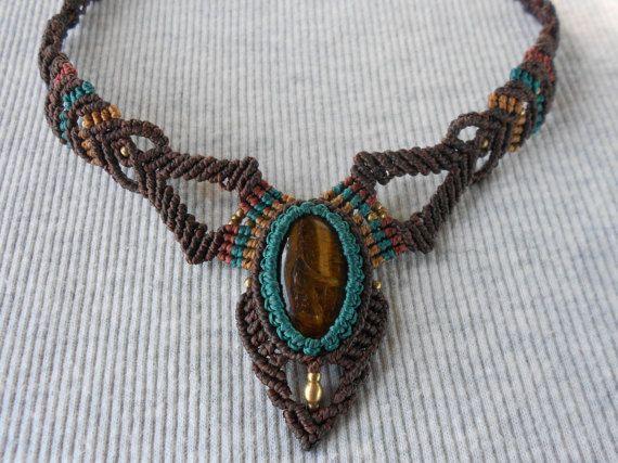 #Gargantillas macrame #Handmade #macrame #necklace por GipsyCrafts