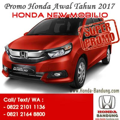 Promo Paket Kredit Super Deal DP Ringan Honda New Mobilio 2017 Bandung. Sales: 082221011136