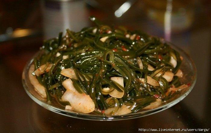 Салат из ламинарии или из морской капусты