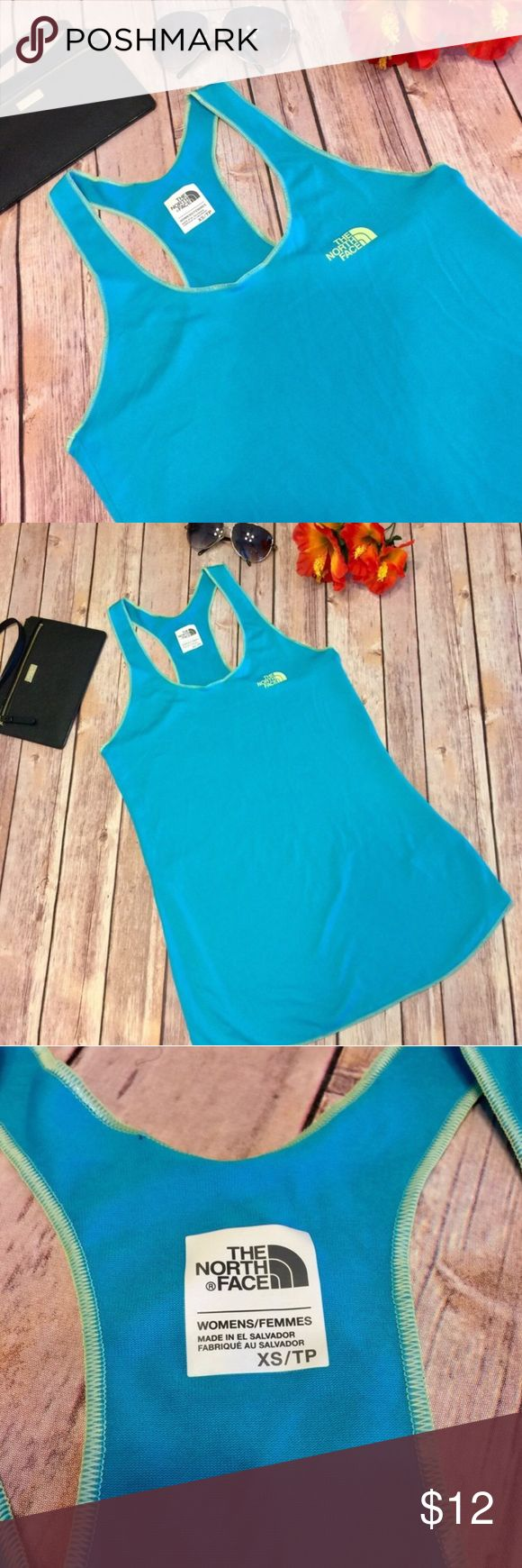 ⚡️SALE⚡️ The North Face Teal Athletic Tank Top Excellent Condition Like New! The North Face Women's Size XS Racerback Tank Top. Fits More Like A Small The North Face Tops Tank Tops