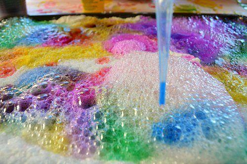 Bri-coco de Lolo: Expériences scientifiques pour les enfants: arc-en-citron une éruption de sel