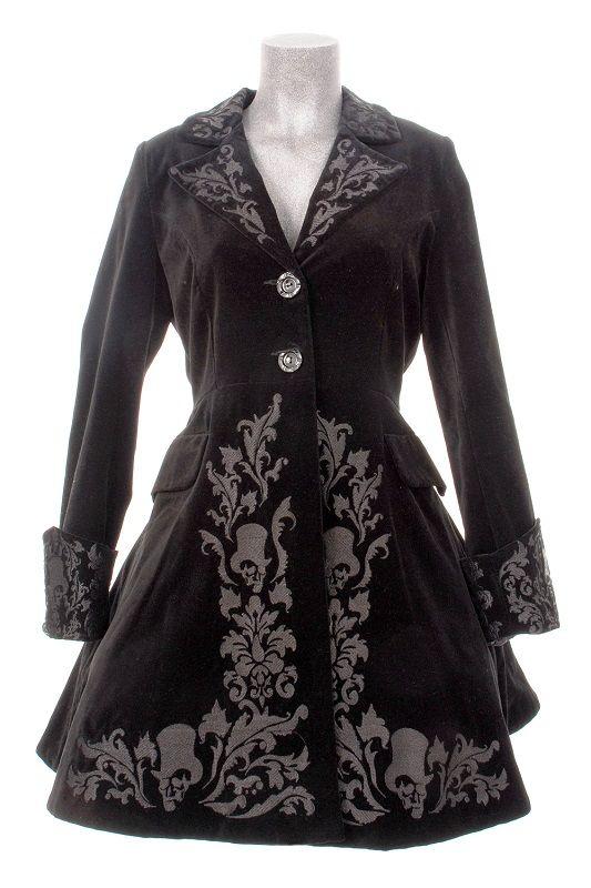 Manteau noir d'hiver Victorien gothique aristocrate, hell bunny > JAPAN ATTITUDE - HELLB021   Shop : www.japanattitude.fr