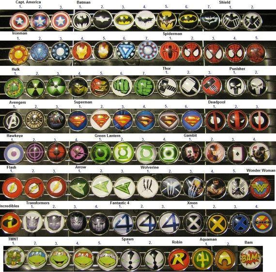 Avengers Cufflinks Superhero Cuff Links comic by JrocksJewelry
