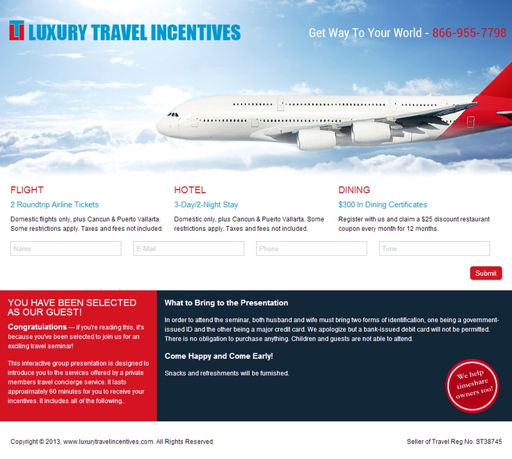 Our New Web Design for Travel Incentives with all features client required....
