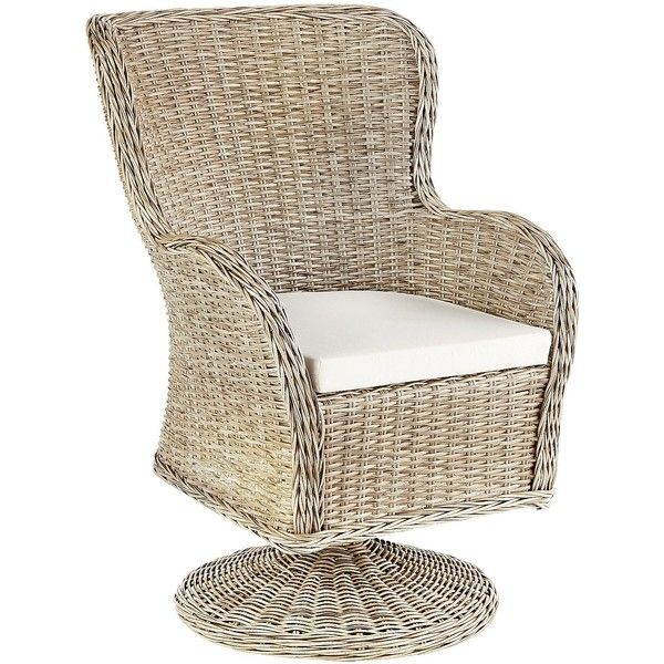 Pier 1 Imports Brown Capella Island Swivel Dining Chair ($250) ❤ liked on Polyvore featuring home, outdoors, patio furniture, outdoor chairs, brown, brown patio furniture, indoor outdoor furniture, outdoor swivel chairs and outside patio furniture