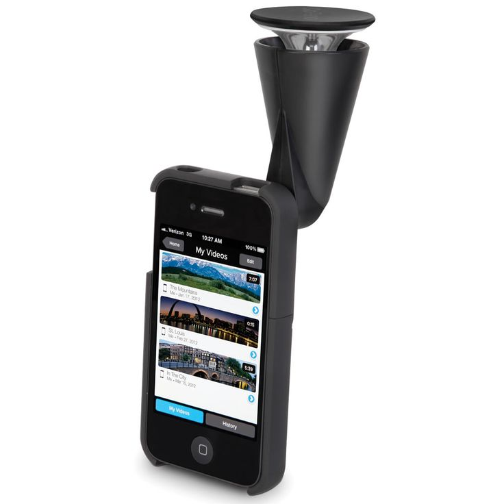 The iPhone 360 Degree Panoramic Video Lens - Using the same technology found in U.S. Army surveillance cameras, this iPhone lens captures seamless 360º panoramic video.