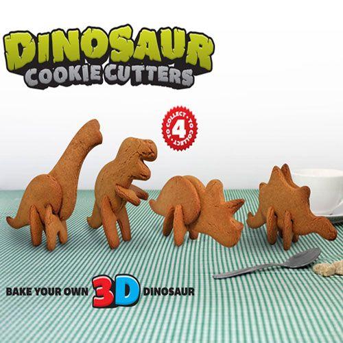 3D Dinosaur biscuit cutters