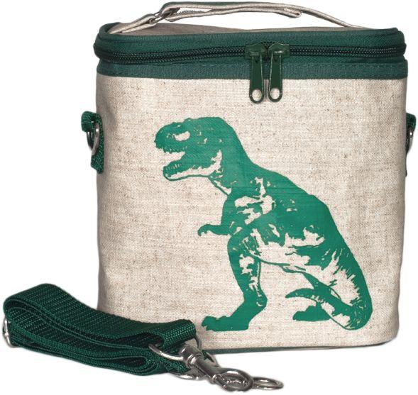 Green Dinosaur Small Cooler Bag
