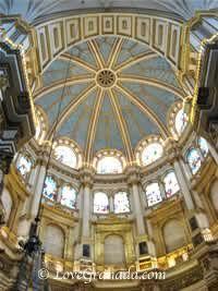 beautiful interior of granada cathedral