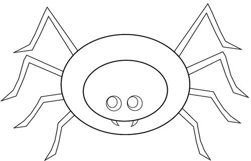 very cute spider coloring page
