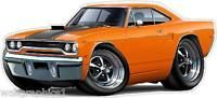 1970 Plymouth Roadrunner 440 6 Pack Cartoon Car Wall Stickers Graphic Poster