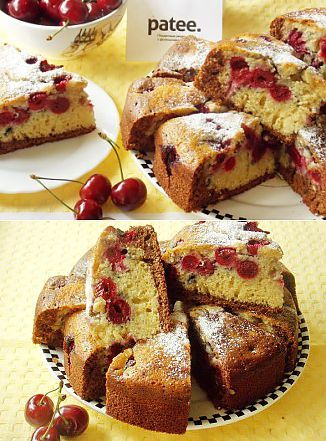 Cake with cherries - recipe with photos