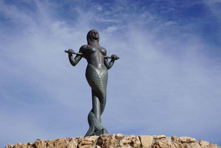 A mermaid statue in Paralio Astros in the coastal area of Arcadia!